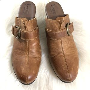 boc Shoes - BOC Brown Heeled Leather Mules
